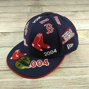 Mlb Boston Rot 2004 World Series Baseball Kappe A-flex Rot Baseball & Softball